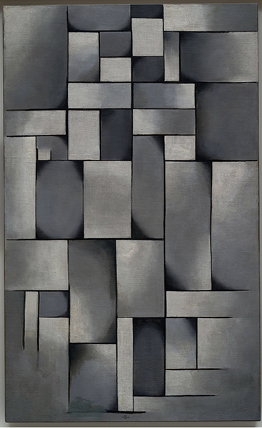 THEO VAN DOESBURG. Composition in Grey. 1919 - Mondrian o cuando el arte cambió su cultura visual, en el Reina Sofía de Madrid