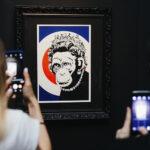 Banksy expone su grafiti en Madrid