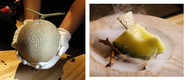 melon crown jaones - Restaurante japonés Pilar Akaneya: El imperio del Kobe y la brasa en Madrid