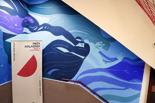 "pinta malasaña Madrid Mercado Mostenses10 - 50 grafiteros actúan en el Mercado de los Mostenses para ""Pinta Malasaña"""