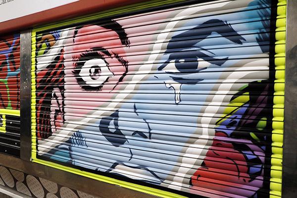 "pinta malasaña Madrid Mercado Mostenses2 - 50 grafiteros actúan en el Mercado de los Mostenses para ""Pinta Malasaña"""