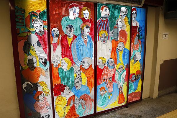 "pinta malasaña Madrid Mercado Mostenses7 - 50 grafiteros actúan en el Mercado de los Mostenses para ""Pinta Malasaña"""