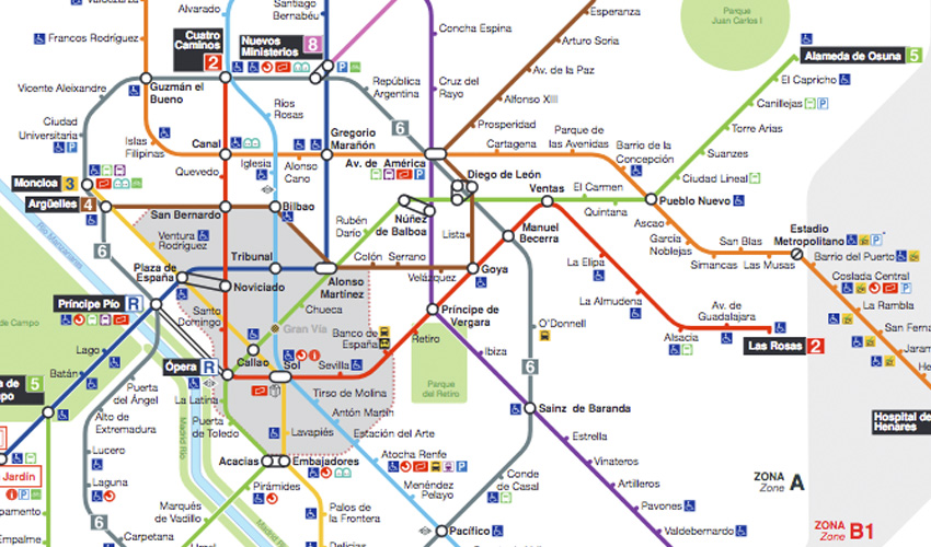 Plano de Metro de Madrid