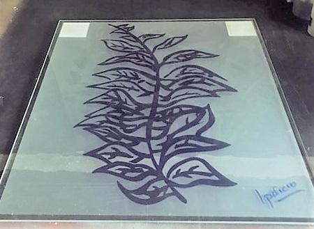 Cuadro de cristal 1 Ricardo Aparicio pintor - El pintor Ricardo Aparicio propone tres de sus obras como regalos con mucho arte