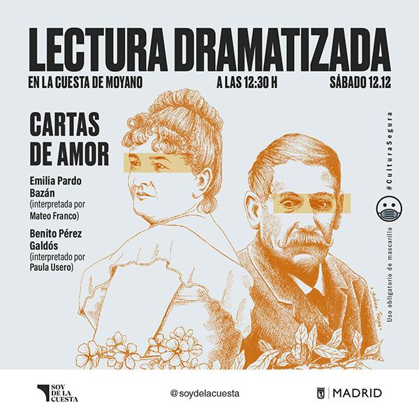 RSS cuadrado 2 - La Cuesta de Moyano teatraliza las cartas de amor entre Galdós y Pardo Bazán
