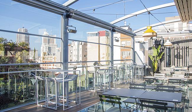 Santo Domingo. Terraza - 10 terrazas de Madrid acondicionadas para el invierno