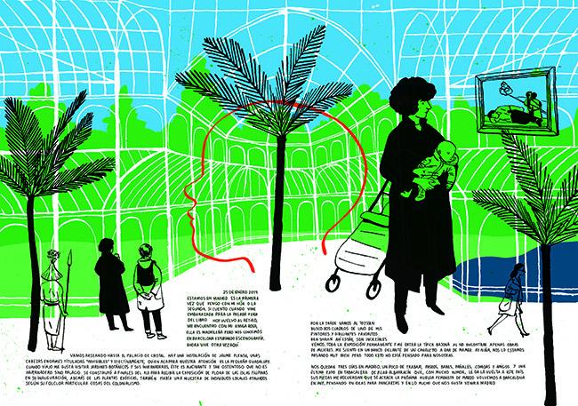 Carmen Segovia - Exposición: Ilustraciones que cuentan Madrid en la sala CentroCentro