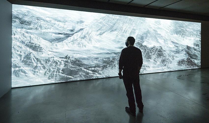 Exposición: Joanie Lemercier nos acerca a la naturaleza desde el videomapping