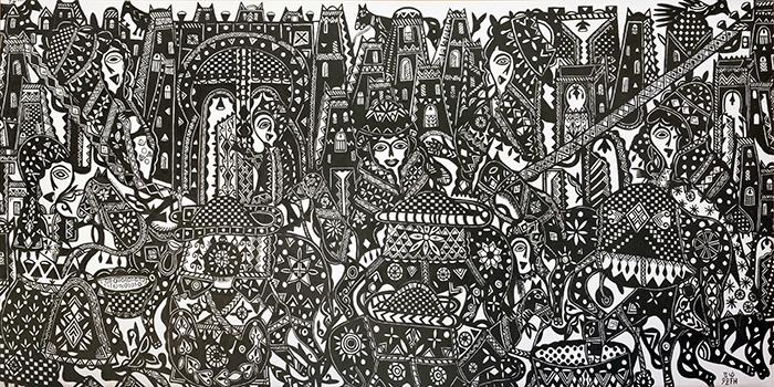 """FATIMA HASSAN Escena - La exposición """"Trilogía marroquí 1950 - 2020"""" trae a Madrid el arte contemporáneo del país africano"""