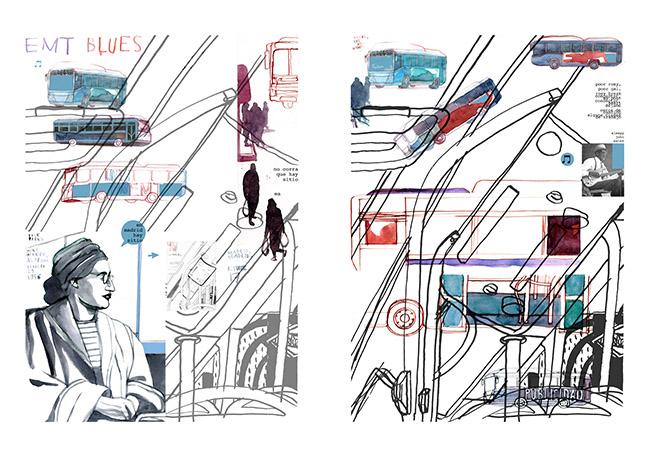 Javier Vazquez - Exposición: Ilustraciones que cuentan Madrid en la sala CentroCentro