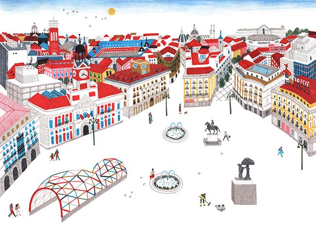 Violeta Lópiz - Exposición: Ilustraciones que cuentan Madrid en la sala CentroCentro