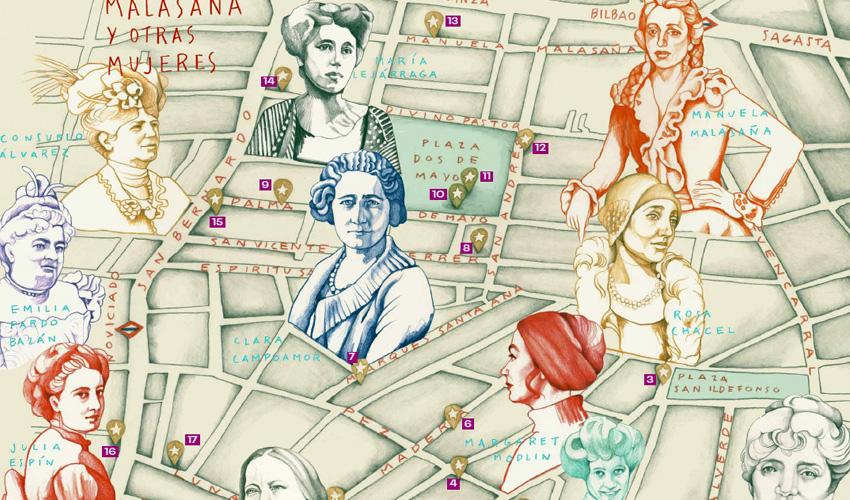 Ruta por el barrio de Manuela Malasaña y otras mujeres