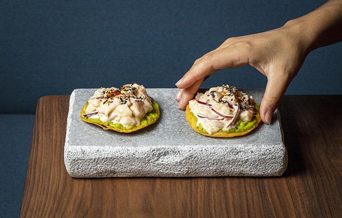 Lagasca 19. Tartar de vieria y bogavante sobre tortilla - Restaurante Lagasca 19: creatividad y producto