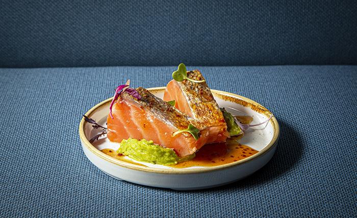 Lagasca19.Ventresca de salmón - Restaurante Lagasca 19: creatividad y producto