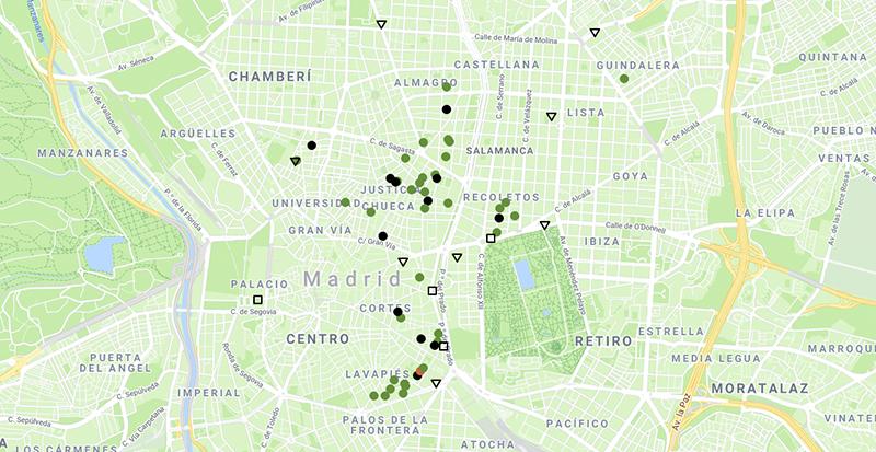 """mapa apertura Madrid exposiciones galerias - Las galerías de Madrid celebran su fiesta de """"Apertura"""" con 52 exposiciones"""