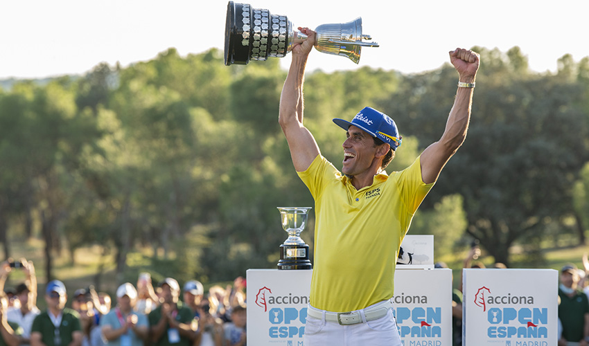 El español Rafael Cabrera-Bello gana el Acciona Open de España