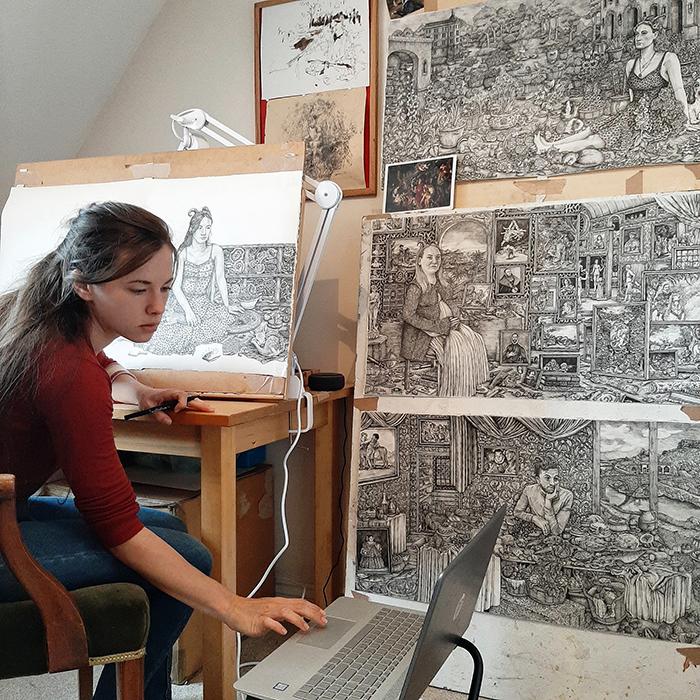 Olivia Kemp OK Studio2 - La artista británica Olivia Kemp inaugura la nueva galería F&deO en el Barrio de Salamanca