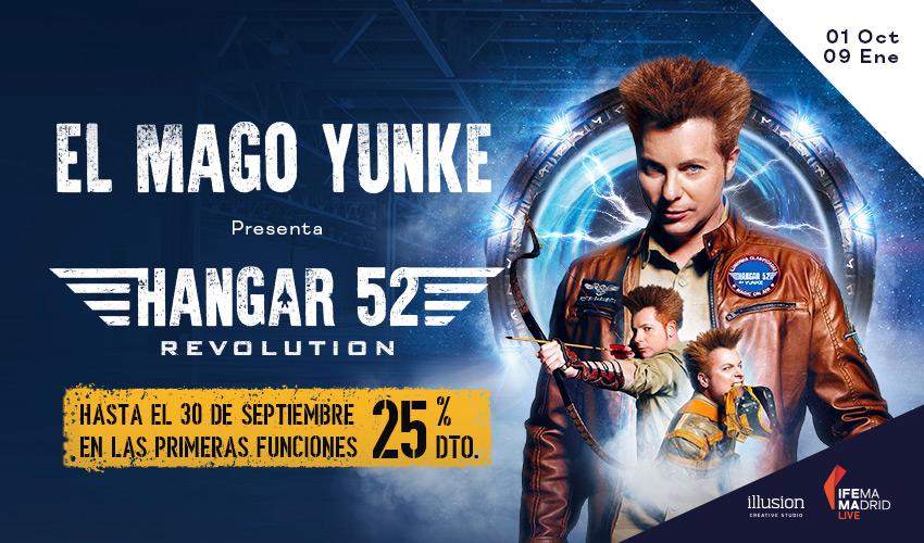 Yunke 850x500 1 - El Mago YUNKE vuelve a IFEMA con su espectáculo HANGAR 52 REVOLUTION
