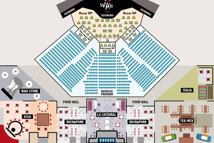 """plano WAH 01 - Se estrena en Madrid """"WAH"""", una súper experiencia musical y gastronómica que dura 5 horas"""